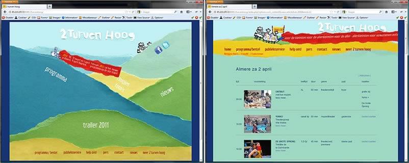 website van 2 Turven Hoog Seizoen 2011 gemaakt door webdesignbureau Amsterdam othersites