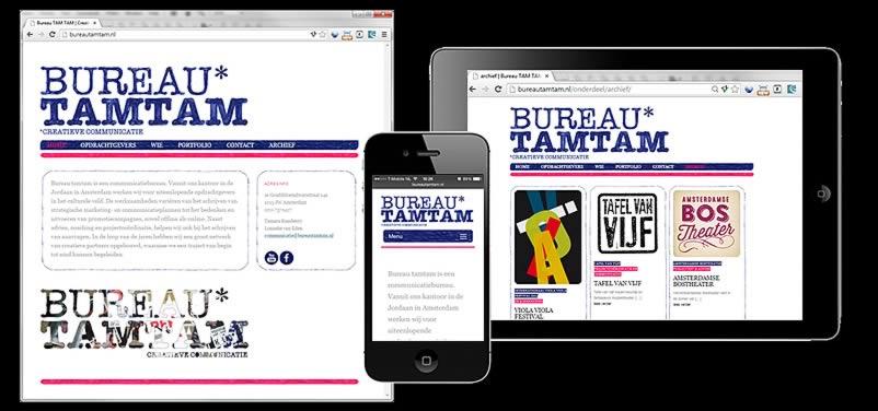 website van bureautamtam.nl gemaakt door othersites webdesign bureau amsterdam