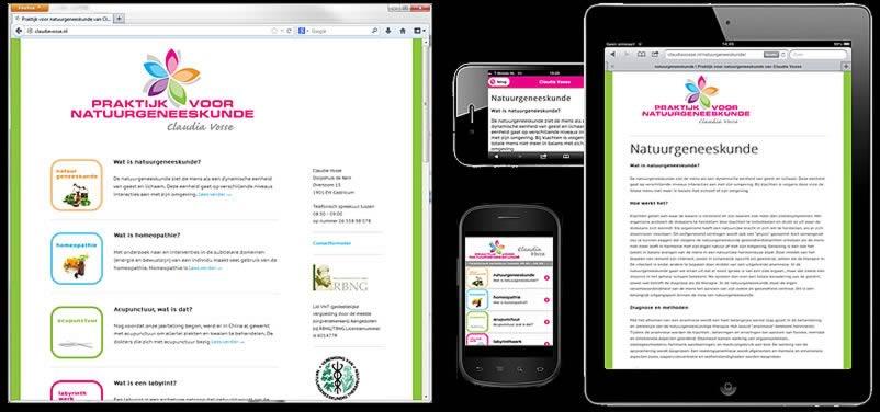 website van Claudia Vosse gemaakt door webdesignbedrijf Amsterdam othersites