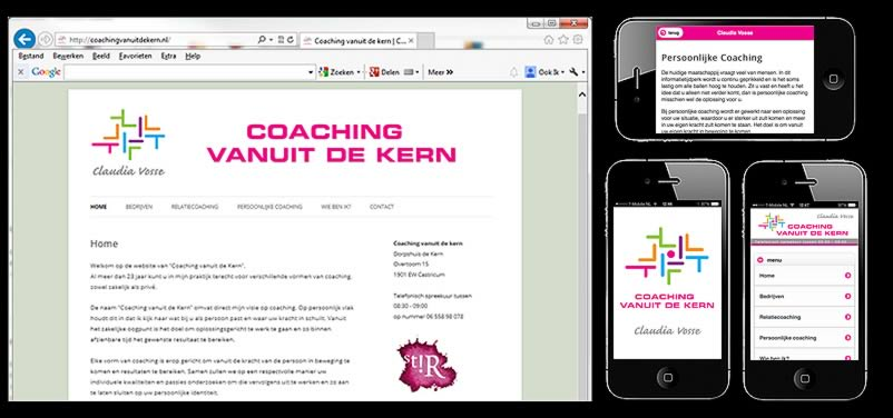 website van coachingvanuitdekern.nl door webdesign bureau amsterdam othersites