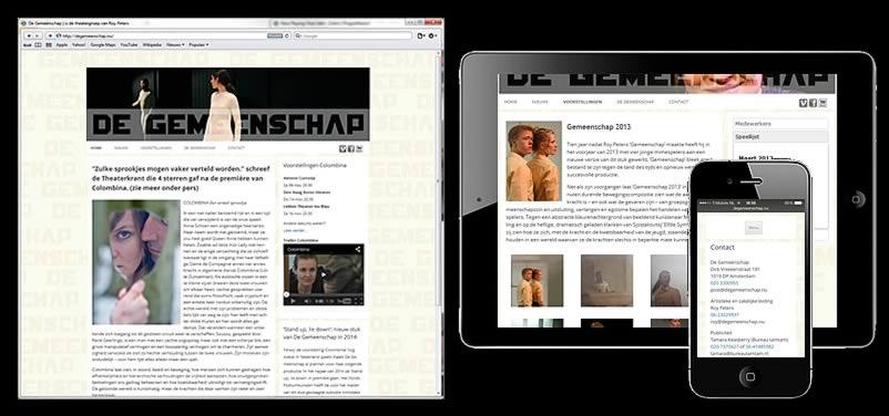 website van De Gemeenschap gemaakt door othersites webdesign bedrijf amsterdam
