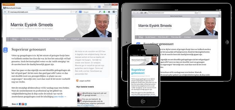 website van Marnix Eysink Smeets gemaakt door webdesign bureau amsterdam othersites