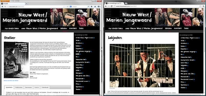 website van Nieuw West gemaakt door othersites webdesignbureau Amsterdam