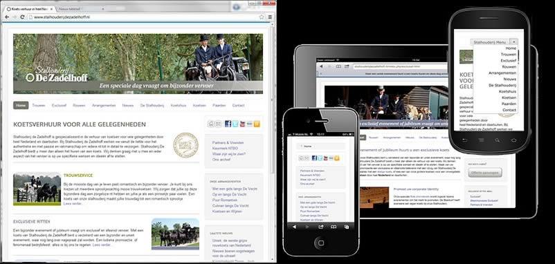 website van Stalhouderij de Zadelhoff gemaakt door webdesign bedrijf Amsterdam othersites