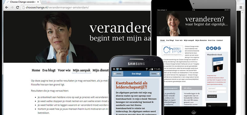 website van Choose Change verandermanagement gemaakt door webdesign bedrijf amsterdam othersites