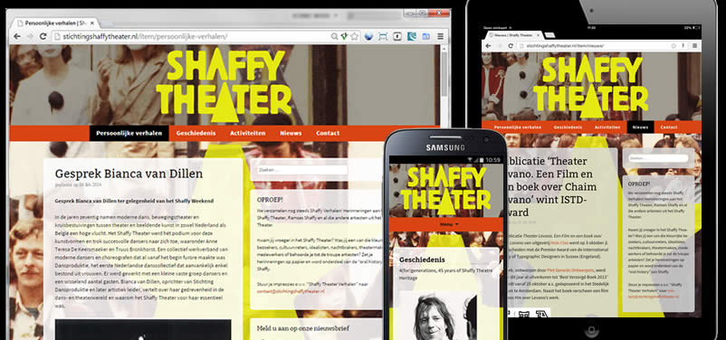 website van stichting shaffy theater gemaakt door webdesign bureau othersites