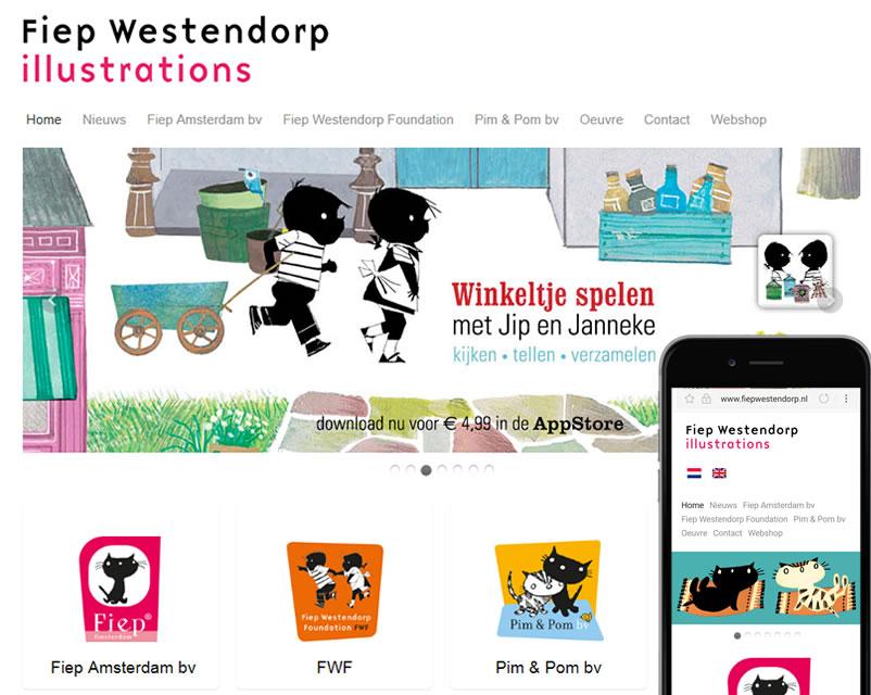 website van Fiep Westendorp Amsterdam gemaakt door webdesign bedrijf amsterdam othersites