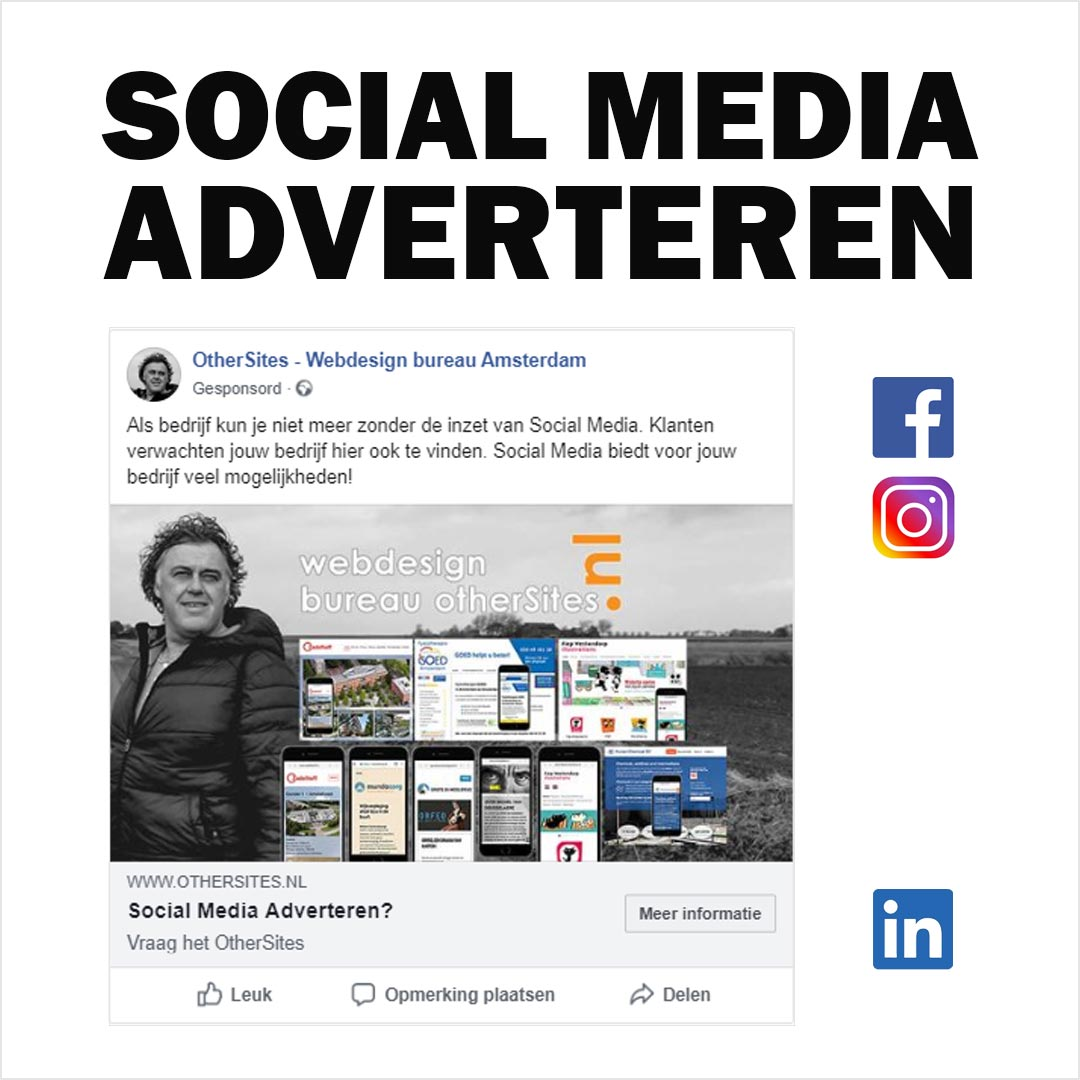 social media adverteren webdesign bureau amsterdam
