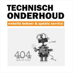 technisch beheer onderhoud website