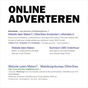 online adverteren webdesign bureau amsterdam google advertising